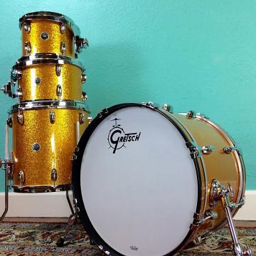 Custom Gretsch Brooklyn 10x8 / 12x8 / 14x14 / 20x14 Gold Sparkle