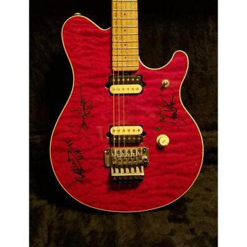 "Custom EVH ""AUTOGRAPHED"" SIGNATURE MUSIC MAN Music Man 93' First Issue Trans RED"