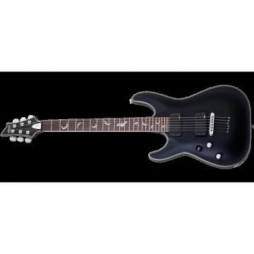 Custom Schecter Damien Platinum-6 Left-Handed Electric Guitar Satin Black