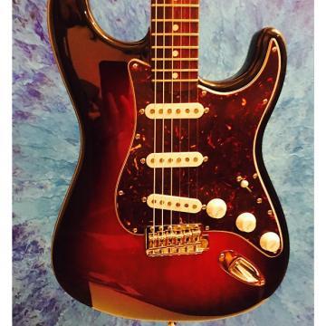 Custom Fender John Mayer Straocaster W KINMAN JOHN MAYER PICKUPS & K5 SOLDERLESS WIRING HARNESS 3T Sunburst