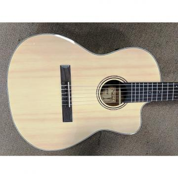 Custom Alvarez RC26HCE Classical Hybrid Acoustic-Electric Guitar, Natural, Nylon, B-Band