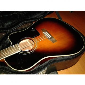 Custom Epiphone AJ-220SCE Acoustic/Electric Guitar 2 Color Sunburst With Hard Case