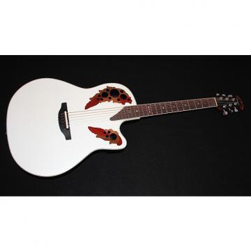 Custom Ovation 2778AX Standard Elite White Acoustic Guitar w/ Gigbag