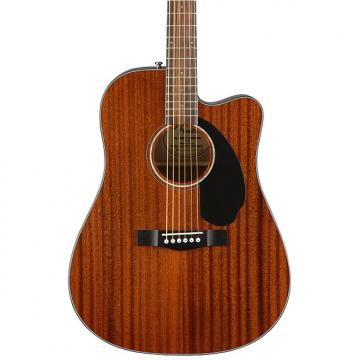 Custom Fender Classic Design CD-60SCE All-Mahogany Dreadnought Cutaway Semi-acoustic Guitar with Preamps-on