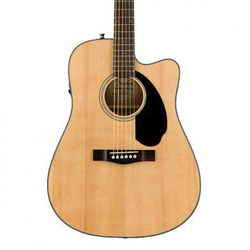 Custom Fender Classic Design CD-60SCE Dreadnought Cutaway Semi-acoustic Guitar with Preamps-onboard, 20 Fre