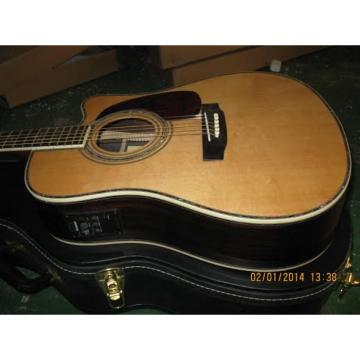 Custom Shop CMF Martin Natural Varnish Acoustic Guitar Sitka Solid Spruce Top With Ox Bone Nut & Saddler