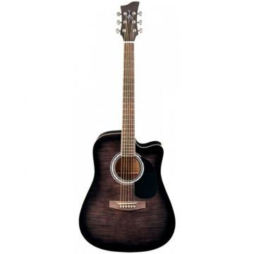 Jay Turser JJ-45FCET Series Acoustic/Electric Guitar Black Sunburst