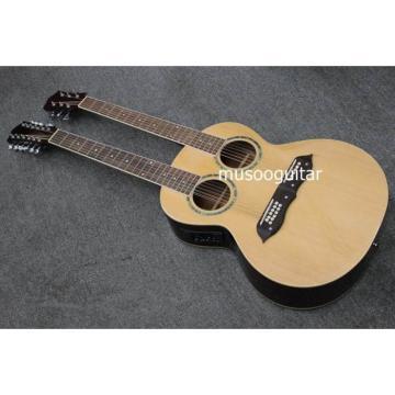 Custom Shop Natural Double Neck Acoustic Guitar