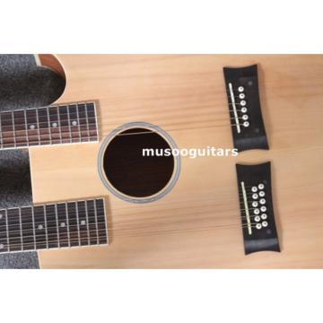 Custom Shop Natural Double Neck Acoustic Electric Guitar