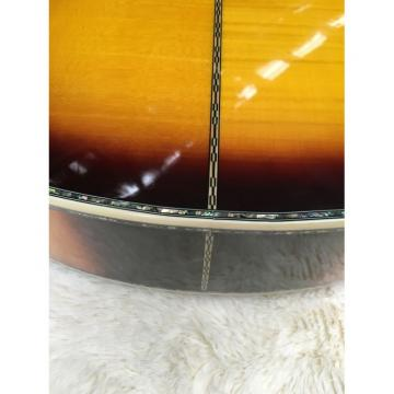 Custom martin guitar accessories Shop martin guitars acoustic J200 martin acoustic guitar strings 6 guitar strings martin Strings acoustic guitar martin Sunburst Burst Acoustic Guitar Real Abalone