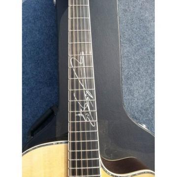 Custom martin acoustic guitar strings  martin d45 Shop martin guitar strings acoustic Cutaway martin Lakewood martin strings acoustic Inlayed Signature Natural Acoustic Guitar