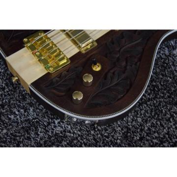 Project Lemmy Kilmister  Rickenbacker 4003 Matte Carved Natural Bass Back Strap Walnut Inspired Ash Body