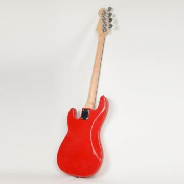 ISIN P-01 Electric Bass Guitar Red with Power Wire Tools