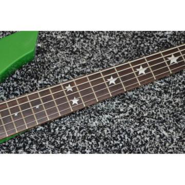 Custom Star Passive Pickups Bongo Music Man Green 5 Strings Bass