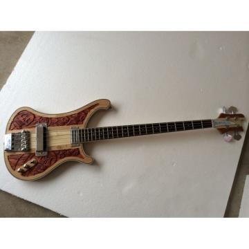 Custom Skull Design Lemmy Kilmister 4003 Natural Chrome Bass