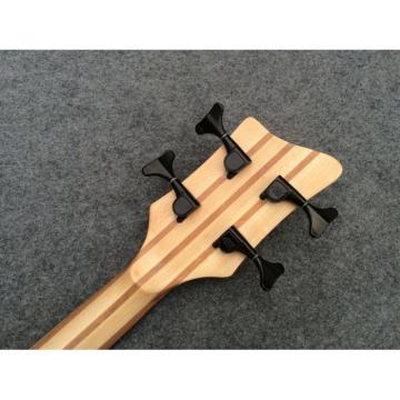 Custom Shop Warwick Corvette 4 Strings Brown Electric Bass Fretless No Inlays