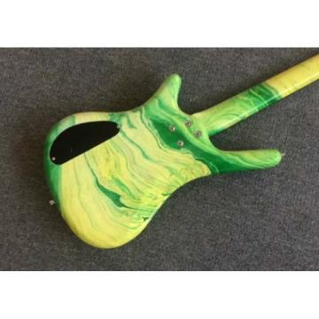 Custom Shop Warwick 4 Strings Green Yellow Bass