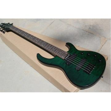 Custom Shop Modulus Quantum 5 Quilted Green Maple Top 5 String Bass