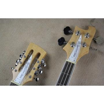 Custom Shop Geddy Lee Left Handed 4080 Double Neck Mapleglo Bass Guitar