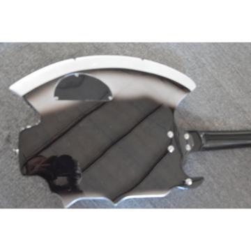 Custom Shop Axe BC Rich Black Gray 4 String Bass