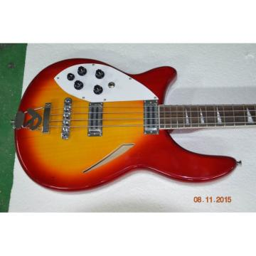 Custom Shop 4005 Rickenbacker Fireglo 22 Frets Semi Hollow Left Handed Bass