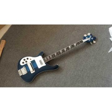 Custom Rickenbacker Left Hand Bass 4003 Blue Electric Guitar Neck Through Body