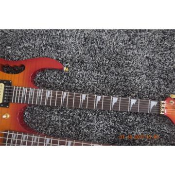 Custom Shop 4 String Bass 6 String Guitar Double Neck Cherry Sunburst