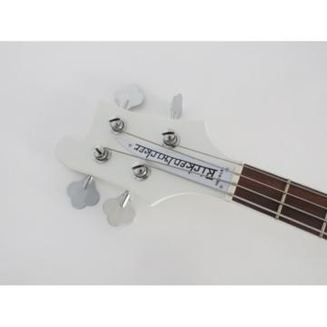 Custom Built 4003 Whiteglo Rickenbacker 4 String Electric Bass