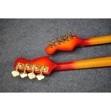 Custom Built 4 String Bass 6 String Guitar Double Neck Cherry Sunburst
