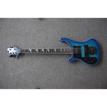 Custom 5 String Left Handed Rickenbacker Blue Maple Top 4003 Bass