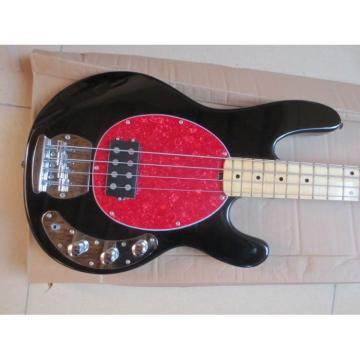 Custom Black With Red Pickguard Music Man 4 String Bass