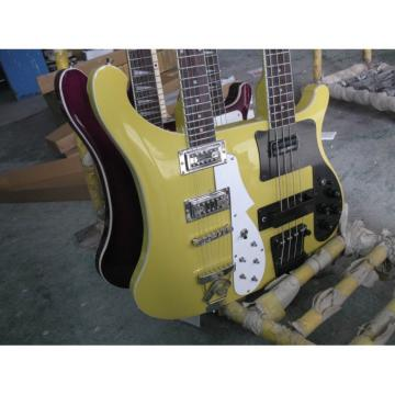 Custom 4003 Double Neck Rickenbacker Yellow Bass
