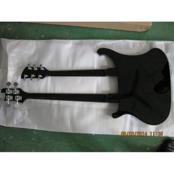Custom 4003 Double Neck Rickenbacker Black 4 String Bass 6 String Guitar