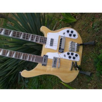 Custom 4003 Double Neck Naturalglo 4 String Bass 12 String Guitar