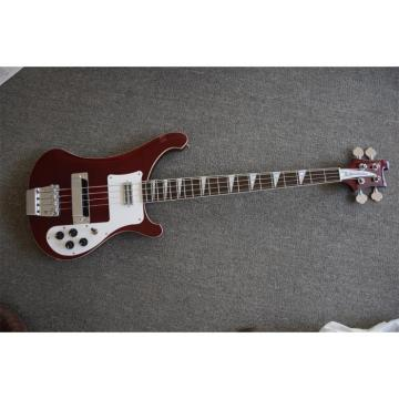 Custom 20 Frets Transparent Red 4003 Neck Thru Body Construction Rickenbacker Bass