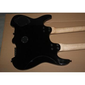 Custom Shop Double Neck Black 6 String Guitar Steinberger Headless 6 String Bass