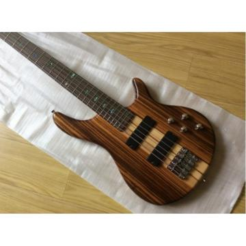 Custom Shop 5 String Bass One Piece Set Neck Brown Maple Body