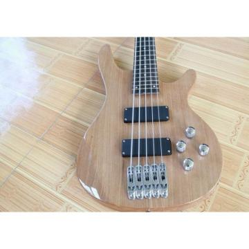 Custom Shop 5 Strings Natural Wood Electric Bass