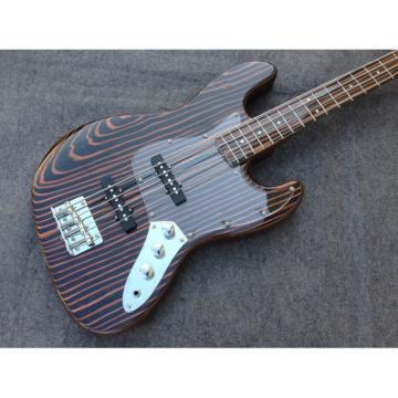 Custom Build Fender Zebra Wood Geddy Lee Jazz Bass 4 String