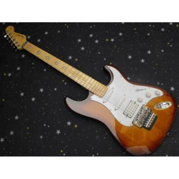 Tobacco Fender Stratocaster Floyd Rose Tremolo Electric Guitar