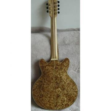 The Top Guitars Brand Natural Wood Handmade Electric Jazz Guitar