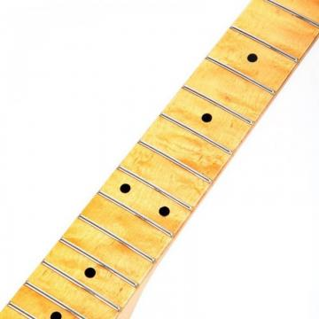 Replacement Maple Fingerboard Dot Fret ST Strat Electric Guitar Maple Neck