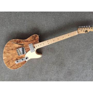 Project Paul McSherry Premium Burl Top Electric Guitar with Custom Logo