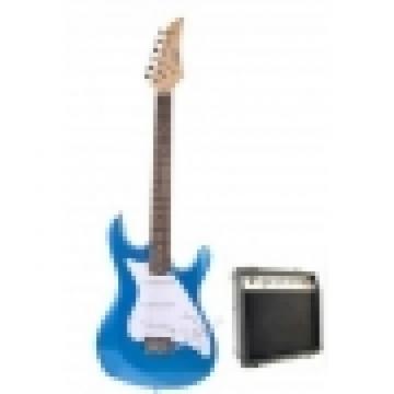 Metallic Blue Electric Guitar with 10Watt Amp Package