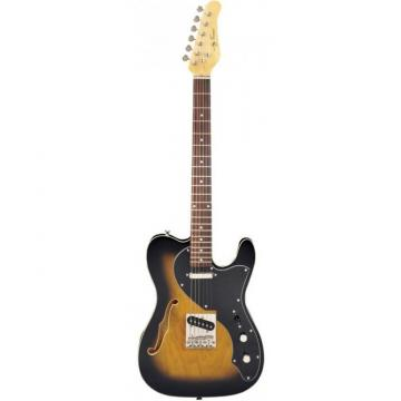 Jay Turser LT-CUSTOMDLX Series Electric Guitar Antique Natural Sunburst