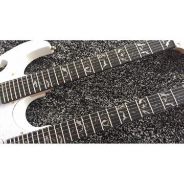 JEM7V White Double Neck 6/12 Strings Electric Guitar