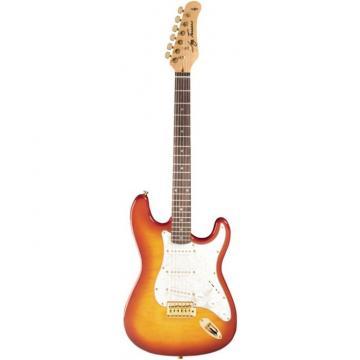 Jay Turser 300QMT Series Electric Guitar Amber