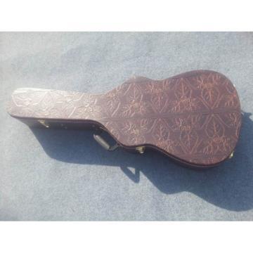Flower Design Electric Guitar Black Hardcase