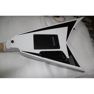 ESP Flying V White Black Electric Guitar