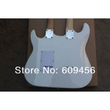 Double Neck Fender Stratocaster Vintage White Electric Guitar
